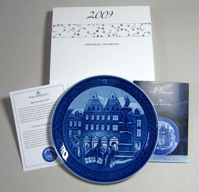 로열 코펜하겐・이어 플레이트 2009년(상자 설명서 첨부)