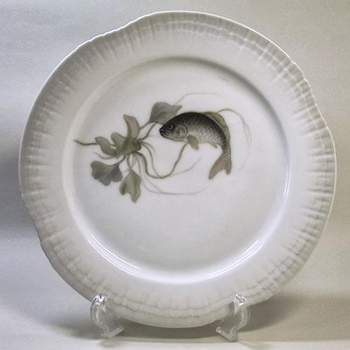 ロイヤルコペンハーゲン アンティーク・魚の絵皿(G)