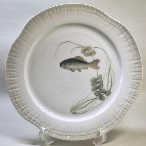 ロイヤルコペンハーゲン アンティーク・魚の絵皿(O)
