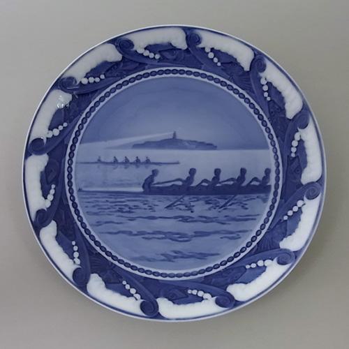 ロイヤルコペンハーゲン 記念プレート no.115「コペンハーゲン競艇クラブ」1911年