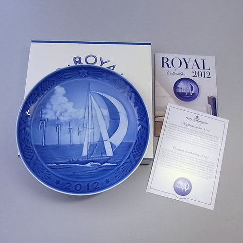 Royal Copenhagen and ear plate 2012 box instructions included.