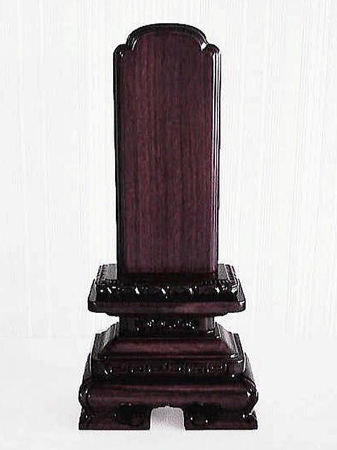 唐木位牌 紫檀京型千倉5.0号(こくたんきょうがたちくら)【送料無料】
