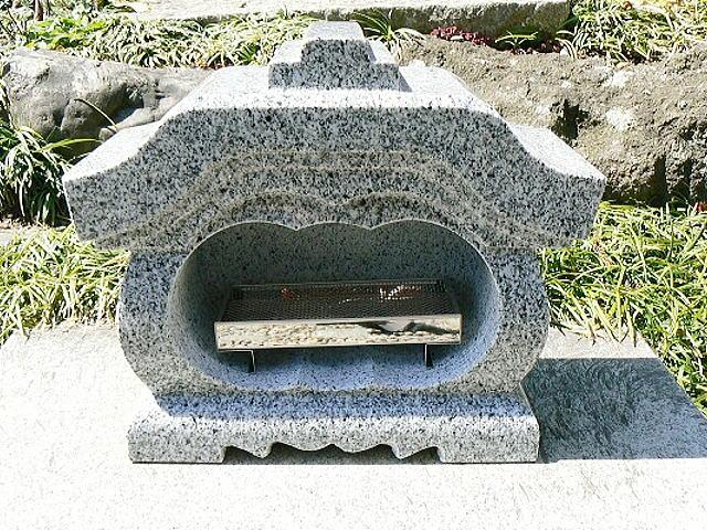 【お墓・墓石・香炉】 白御影石宮型香炉・香皿付【送料無料】02P01Oct16