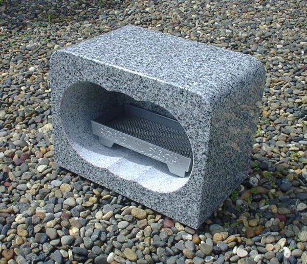 【お墓・墓石・香炉】白御影石香炉・香皿付