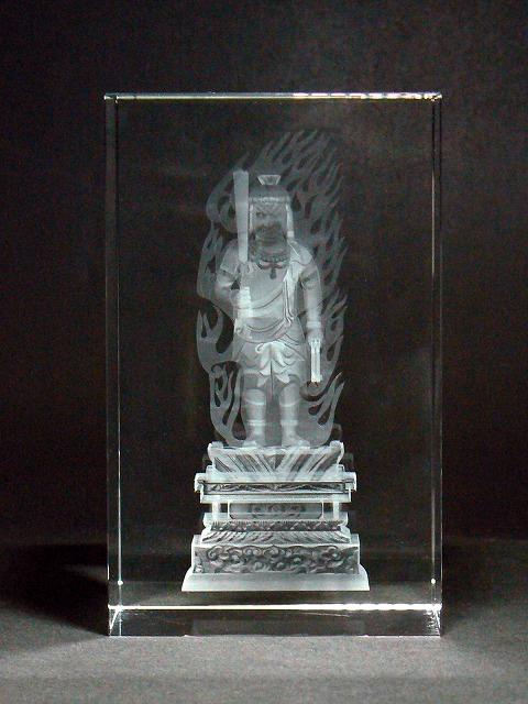 クリスタル仏像(中)不動明王(ふどうみょうおう)【送料無料】