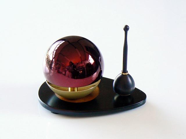 《おりん》【赤たま】ラスターワイン・たまゆらりん セット 1.8寸(ワイン)(メタリックレッド)(赤) 【送料無料】