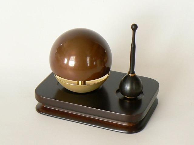 《おりん》 たまゆらりん角りん台セット 2.0寸(チョコ) 【送料無料】
