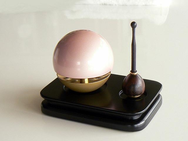 《おりん》【桃たま】桃色たまゆらりん角りん台セット 1.8寸(淡桃色)(ピンク) 【送料無料】