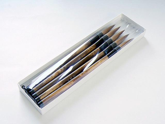 激安挑戦中 ネコポスでお届け 仏具 寺院用 塔婆用の筆5本セットです 出荷 とうば筆 お寺 塔婆筆 寺院用筆 お寺用