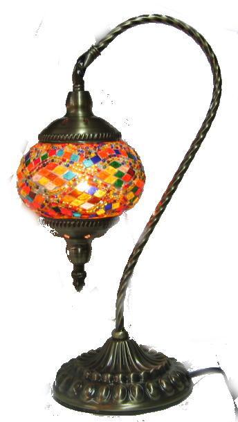 トルコランプ 吊り型 (18-3) アラジンモザイクランプ 中国製 幅20cm 奥行き15.5cm 高さ40.5cm 重さ1.39kg モザイクガラス本体の直径13cm