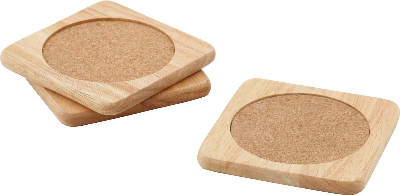 6セットまではクリックポストでの配達となりますので代金引換できません 風合い豊かな天然木を使用 コルク敷き 不二貿易 木製コースター 重さ44g 激安セール ナチュラル ボヌール 1枚のサイズ:幅9.2cm×奥行9.2cm×高さ0.9cm 3枚セット 激安挑戦中