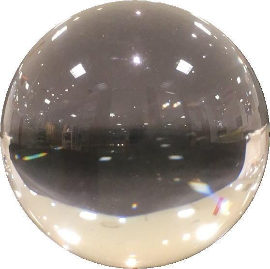 割引 天然水晶球 ディスカウント 99%クリア 35-36mm 透明度抜群 ギフトケース入り