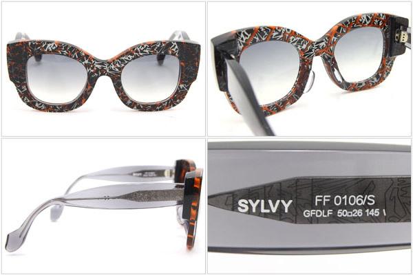 e1f2f05e1b4a Fendi sunglasses FF0106 orange black gray used geometry Lady s eyewear  glasses FENDI