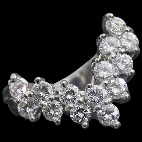 Pt900 ダイヤモンド V字 デザインリング ダイヤ合計1.00ct 10号 中古 プラチナ 指輪 ジュエリー アクセサリー 70819042 | ゆびわ リング ダイヤ ダイヤリング ダイヤモンドリング 18金 レディース 女性 妻 誕生日 プレゼント ギフト 母の日 結婚記念日