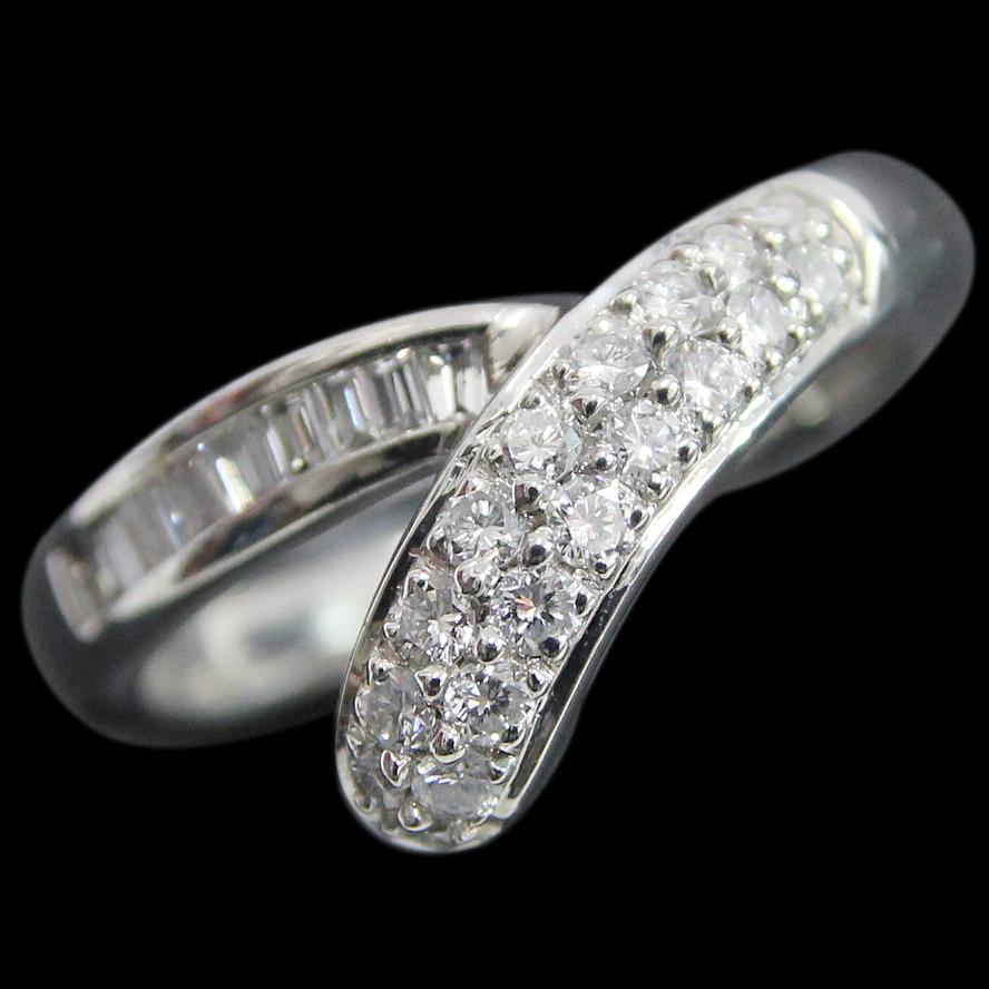 Pt900 ダイヤモンド デザインリング ダイヤ合計0.52ct 14号 中古 プラチナ 指輪 ジュエリー アクセサリー 110721004 | ゆびわ リング ダイヤ ダイヤリング ダイヤモンドリング 18金 レディース 女性 妻 誕生日 プレゼント ギフト 母の日 結婚記念日