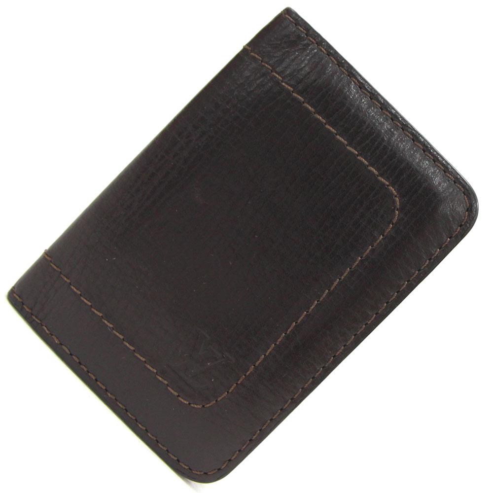 ルイヴィトン カードケース ユタ オーガナイザー ドゥ ポッシュ M929897 カフェ 中古 定期入れ カードケース 名刺入れ  LOUIS VUITTON