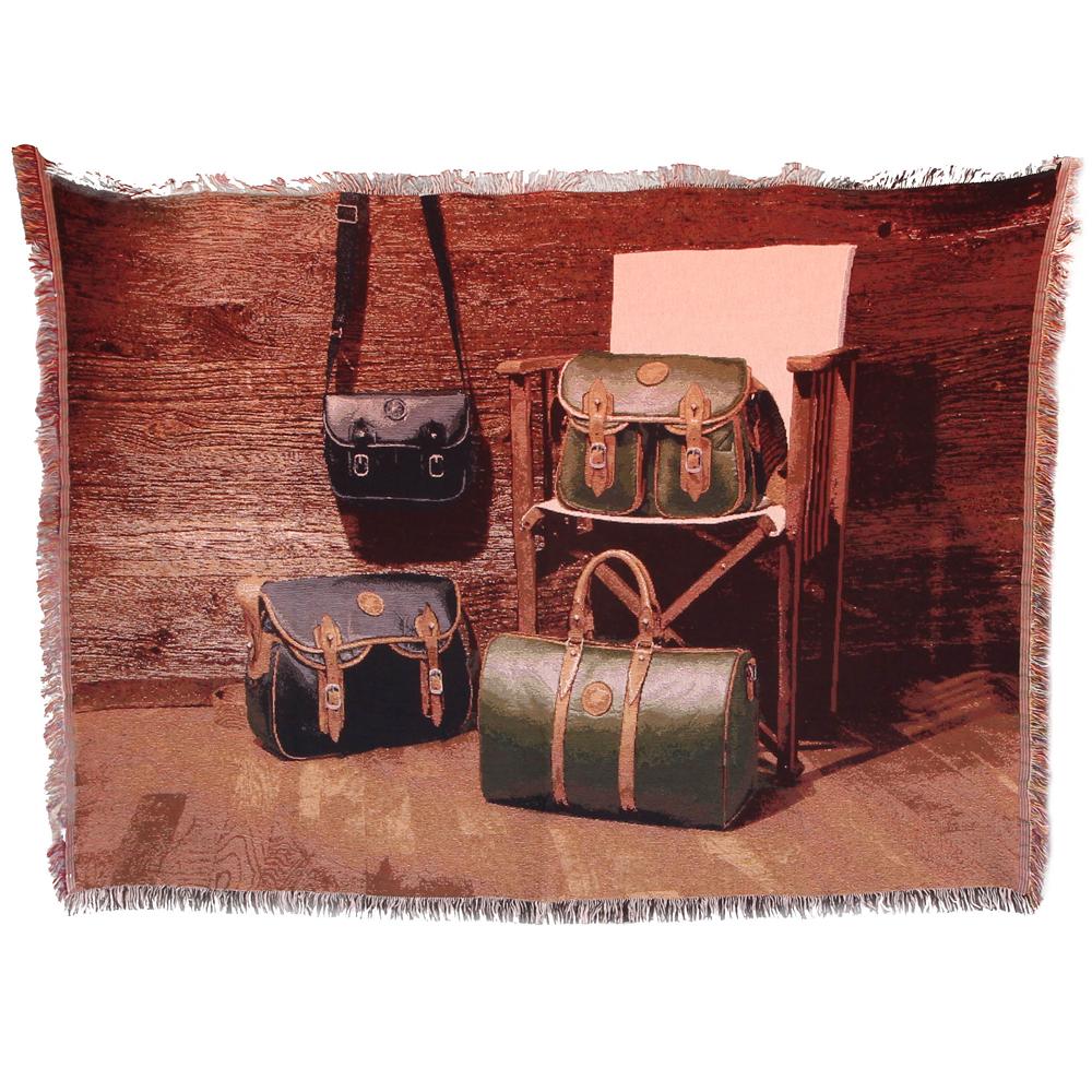 ハンティングワールド ラグ コットン 100% 中古 バチュークロス バッグ 壁掛け 絨毯 タペストリー HUNTING WORLD