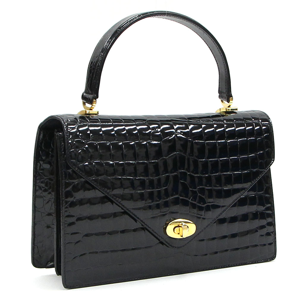 642568c2687 □A product rank: Used A rank I can return goods □A color: Black □Material:  Crocodile □Size: The body: Approximately 25*16*7cm