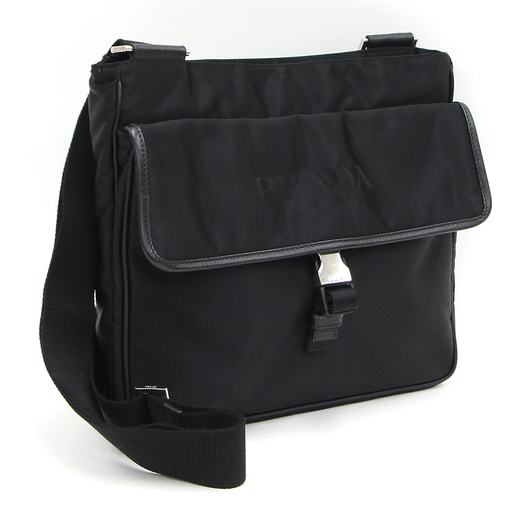 b2c715312866f3 □A color: Black (NERO) □Material: Nylon X leather (TESSUTO+SAFFIANO)  □Scythe Main Unit Approximately 26*25*6cm. A shoulder: Approximately 130cm  (possible ...
