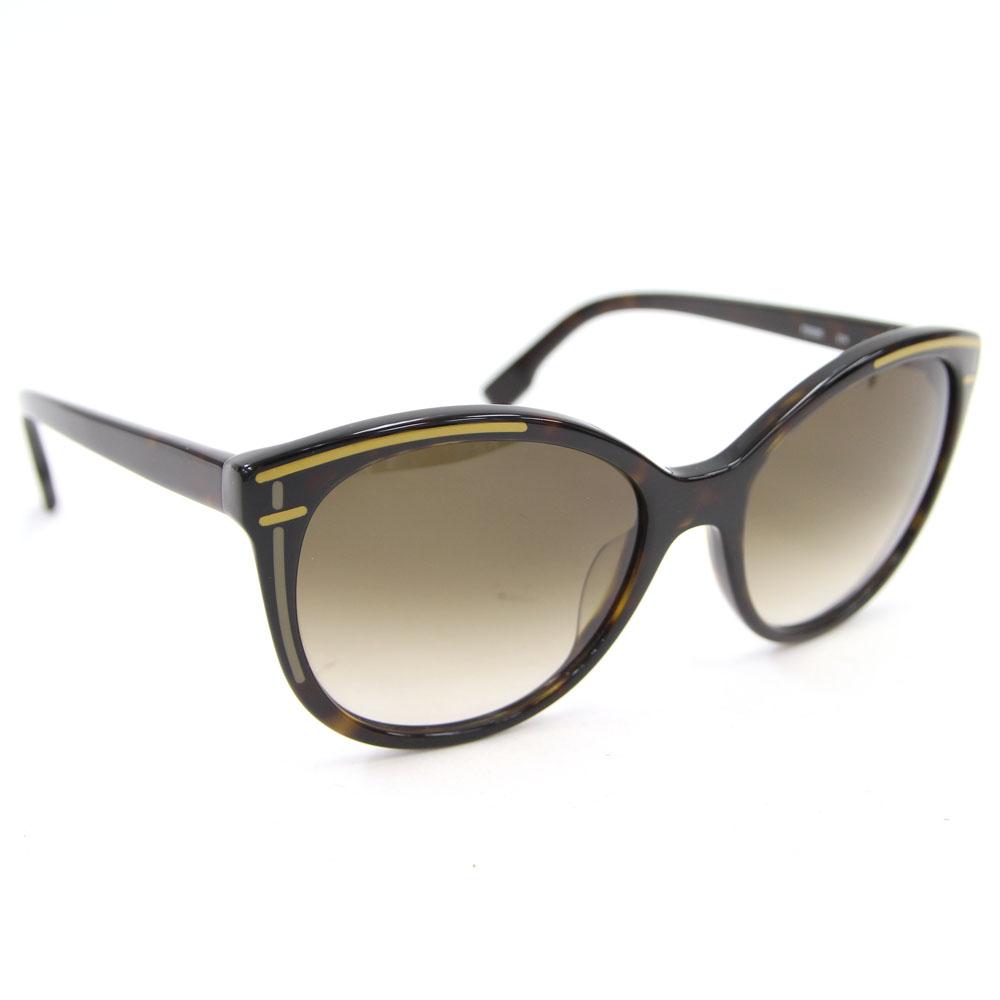 フェンディ サングラス FS5280 ブラック ブラウンマーブル ブラウングラデーション 中古 メガネ アイウェア ロゴ入り FENDI