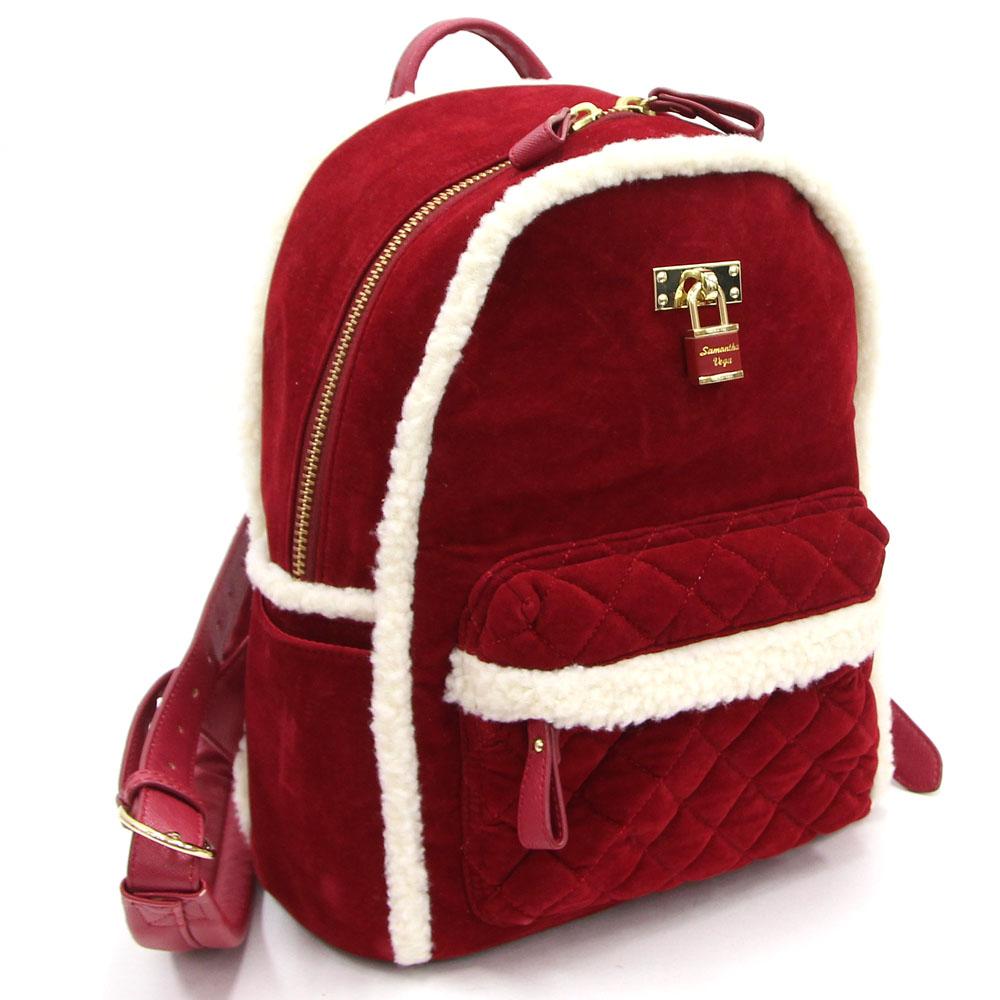 Samantha Vega rucksack dark red off-white