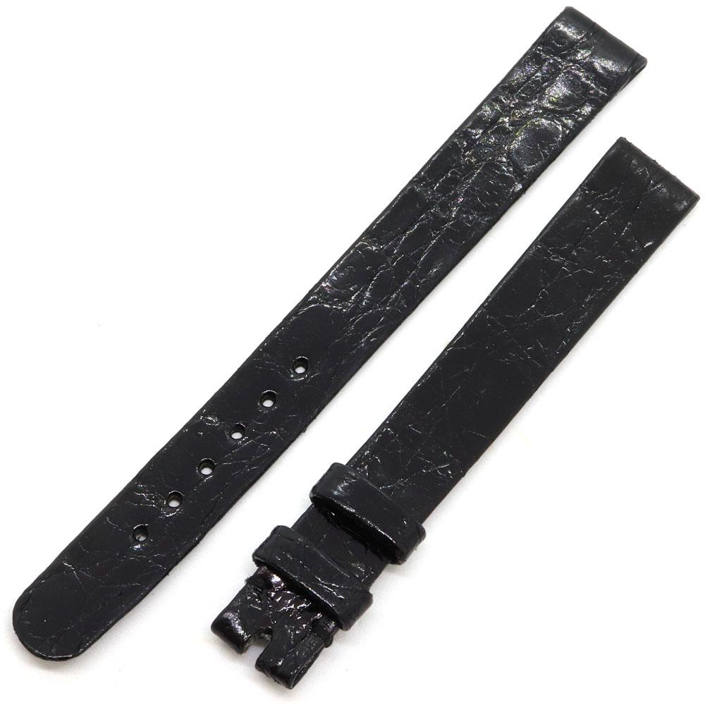 ショパール 替えベルト 純正 ブラック シャイニークロコダイル 新品 未使用 黒 ワニ革 アリゲーター 時計 腕時計 Watch chopard