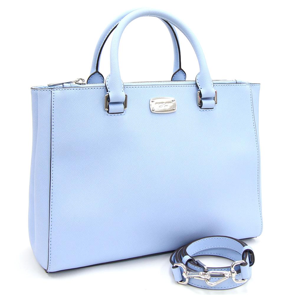Michael Kors Lady S At 2way Handbag Kellen Medium Satc Light Blue Leather Bias For A Shoulder Brand Bag Back