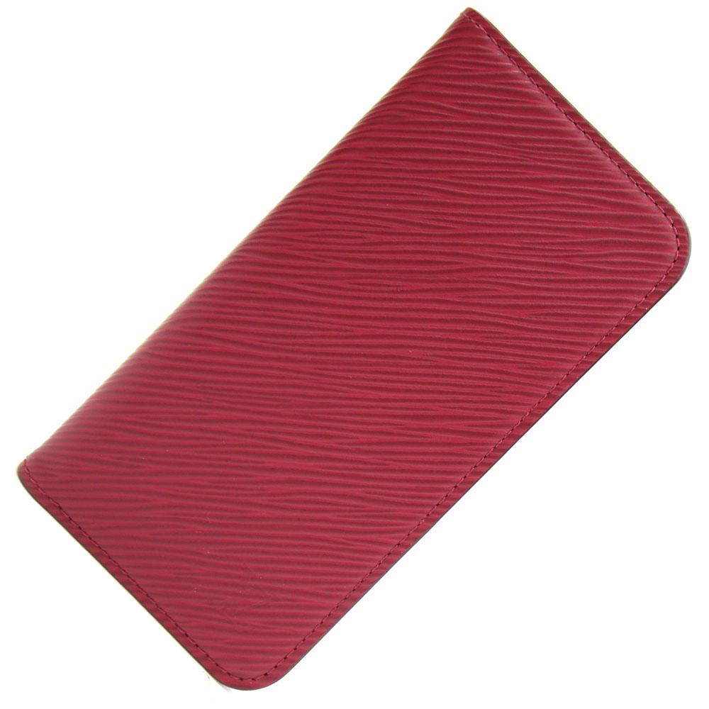 ルイヴィトン iphone X/XS カバー エピ IPHONE X & XS M64468 フォリオ フューシャ 中古 赤 レッド スマホカバー 手帳型 LOUIS VUITTON