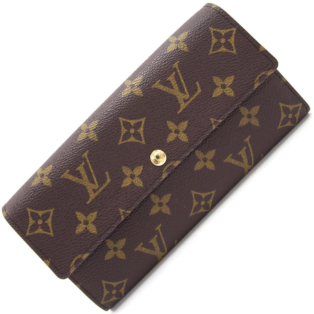 ルイ ヴィトン 二つ折り長財布 モノグラム ポルトフォイユ サラ M61734 中古 ロングウォレット LV ユニセックス LOUIS VUITTON
