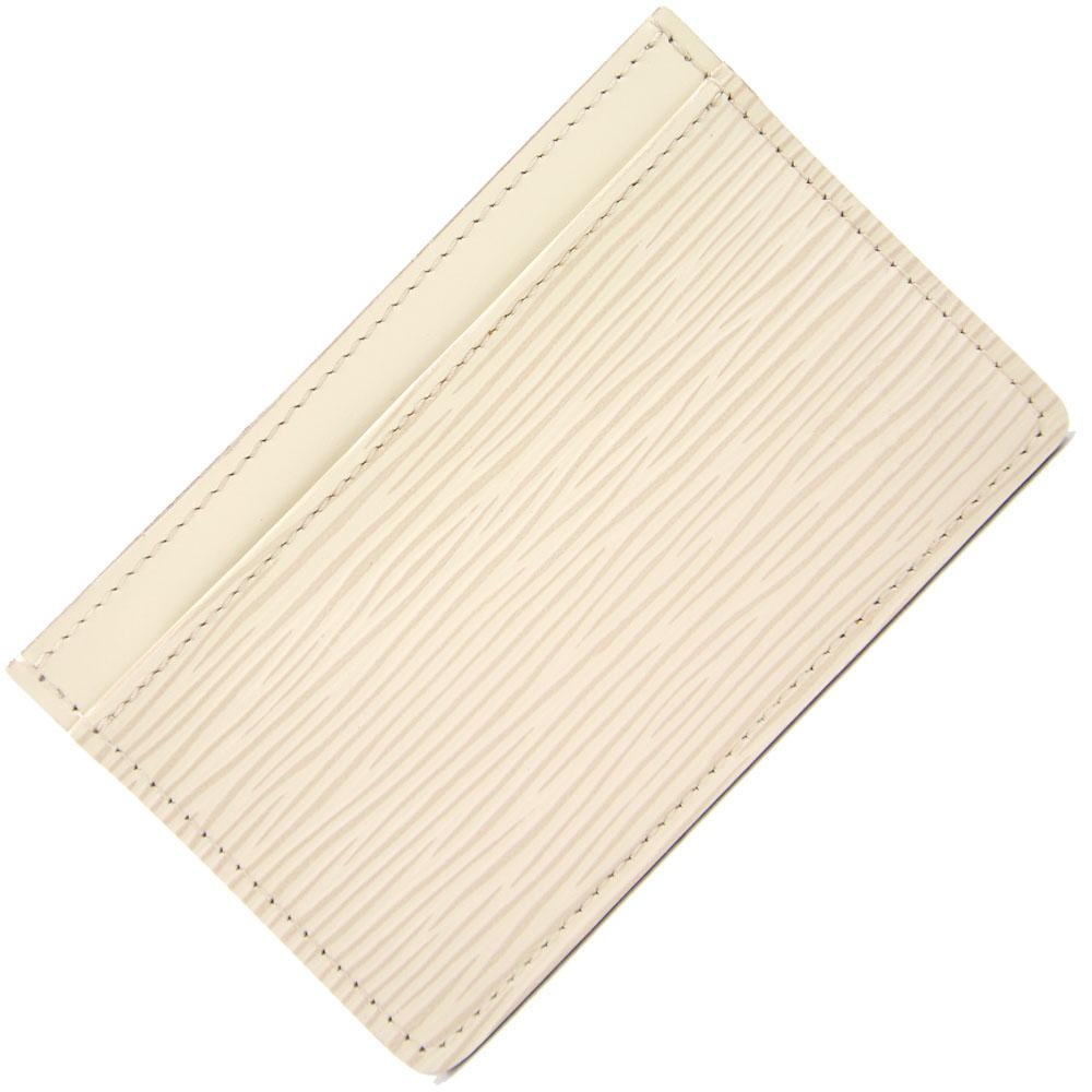 ルイヴィトン カードケースをお得な価格で販売中 カードケース エピ ポルト カルト サーンプル M6030J イヴォワール 永遠の定番 オフホワイト 海外限定 中古 メンズ パスケース VUITTON LOUIS レディース 名刺入れ 定期券入れ