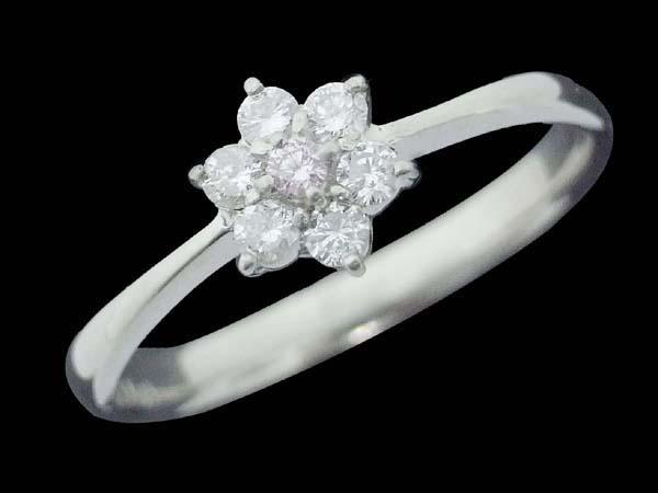 Pt900 ダイヤモンド デザインリング フラワーモチーフ ピンクダイヤ 15.5号 100503010 中古 ジュエリー アクセサリー | ゆびわ リング ダイヤ ダイヤリング ダイヤモンドリング 18金 レディース 女性 妻 誕生日 プレゼント ギフト 母の日 結婚記念日