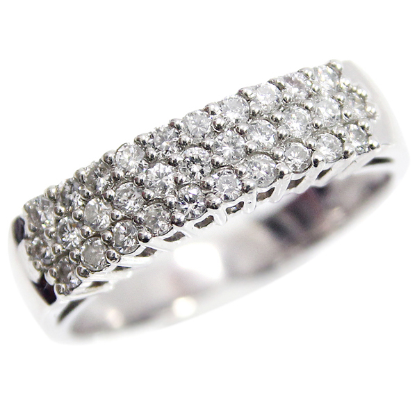 Pt900 ダイヤモンド デザインリング ダイヤ合計0.5ct 14号 中古 プラチナ 指輪 ジュエリー アクセサリー 130430004 | ゆびわ リング ダイヤ ダイヤリング ダイヤモンドリング 18金 レディース 女性 妻 誕生日 プレゼント ギフト 母の日 結婚記念日