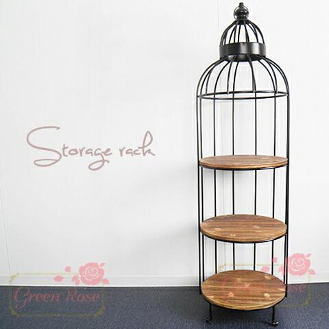 鳥かご風 飾り棚 1個 /ディスプレイ/インテリア/収納/家具/ファニチャー/ラック/furniture01