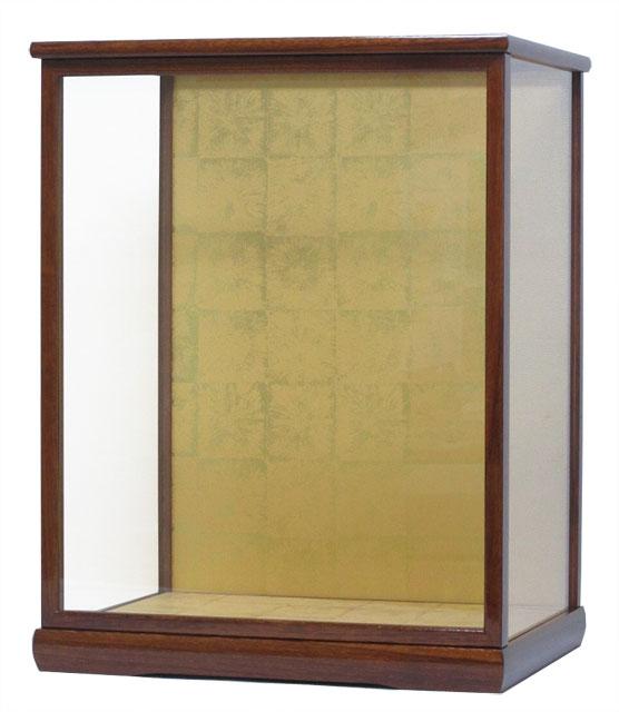 人形ケース コレクションケース 間口30×奥行24×高さ40cm ケース内寸 ケヤキ塗り 格安 価格でご提供いたします 日本 ガラスケース 木製戸付 日本人形
