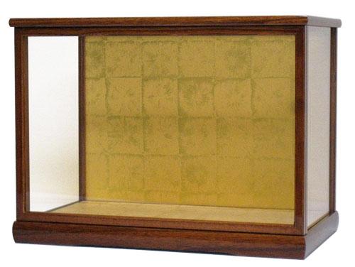 人形ケース コレクションケース 間口55×奥行31×高さ35cm(ケース内寸) ケヤキ塗り 戸付 ガラス 雛人形