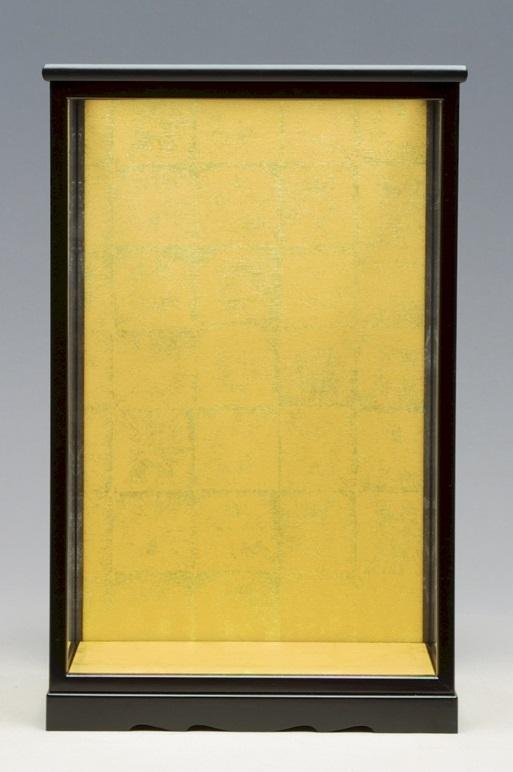 人形ケース 間口35×29×55cm SA313 日本人形 木目込人形 黒塗 戸付 ガラス