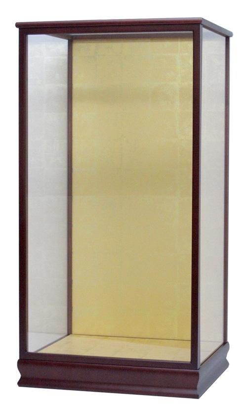 羽子板ケース18号 間口34×奥行27×高さ62cm(花梨塗)結納羽子板 ガラスケース