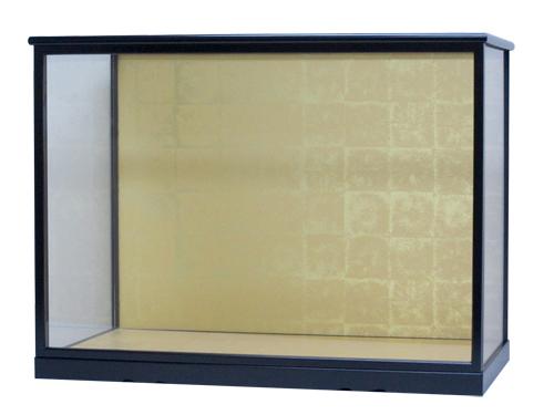 人形ケース357 間口58×奥行30×高さ42cm(ケース内寸)戸付 黒塗り ガラスケース 木目込人形