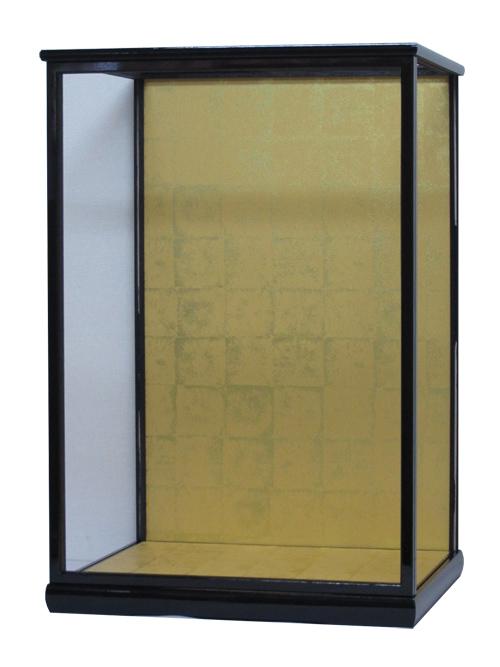 人形ケース560 間口40×奥行35×高さ60cm(ケース内寸) ガラスケース 黒桑塗り 戸付き 市松人形 日本人形