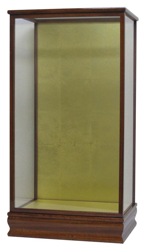 羽子板ケース18号 間口36×奥行27×高さ62cm(ケヤキ塗)結納羽子板 ガラスケース