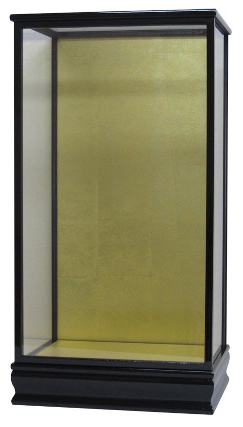 人形ケース 間口36×奥行27×高さ66cm(ケース内寸) 黒桑塗り 結納羽子板18号