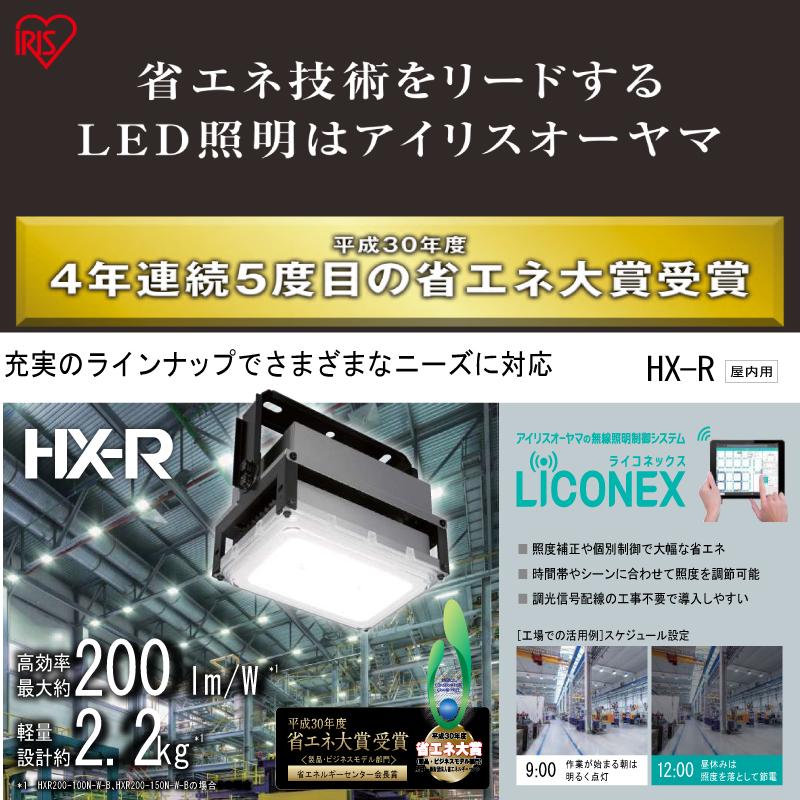 アイリスオーヤマ HX-R200シリーズ 高天井用照明 屋内用 HX-R200-200N-W-B 調光非対応