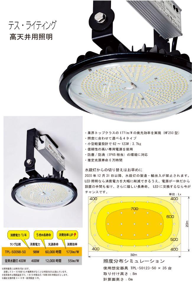 テスライティング 高天井用照明 TPL-50シリーズ