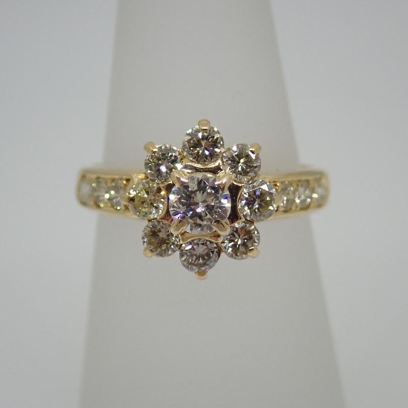 K18 3.3g ダイヤ #7.5 リング【中古】【送料無料】【質屋出店】