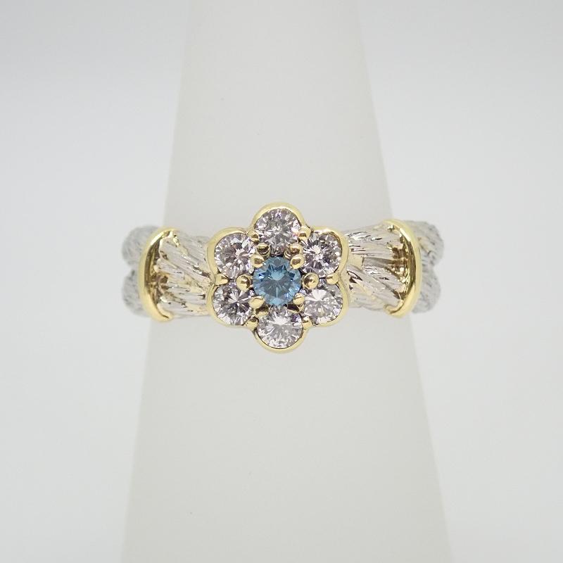 Pt900 8.6g ダイヤモンド #12 リング【中古】【送料無料】【質屋出店】