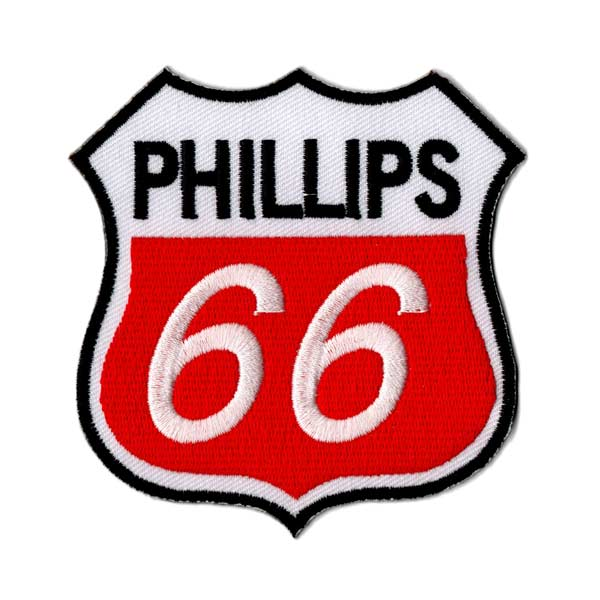 Emblem / PHILLIPS 66 Philips WH X RD white red #162