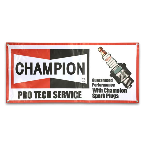 Champion CHAMPION plug banner tapestry garage American miscellaneous goods  candy is sloppy