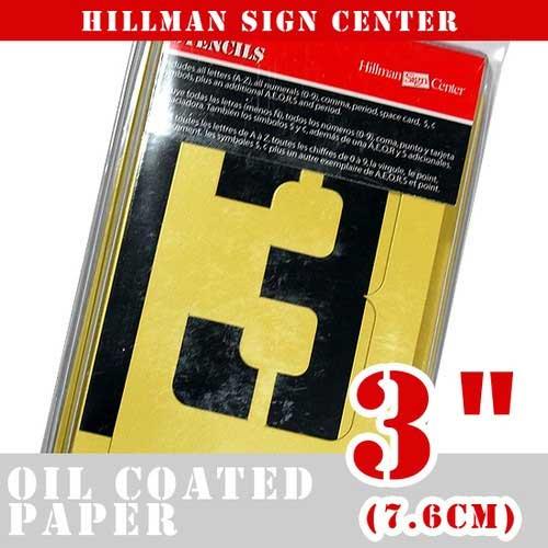 ステンシルプレートでかっこよくステンシルカスタム 再再販 オイルコート紙製 ステンシル プレート stencils 好評受付中 3インチ 47Pset HILLMAN