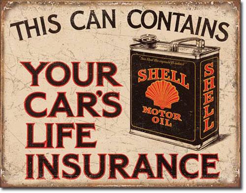 インテリアに最適 まとめ割 捧呈 Shell トラスト - Life Insurance ブリキ看板 2088 ティンサインプレート アメリカン雑貨