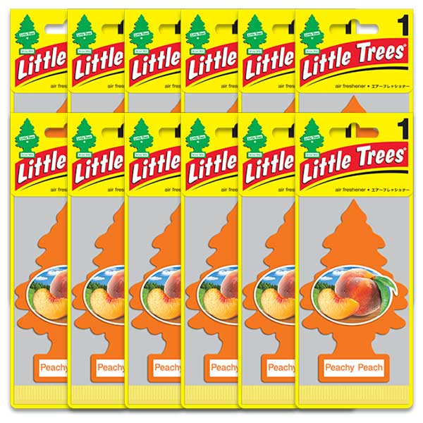 世界シェアNo.1 人気の製品 メール便送料無料 ピーチ 12枚セット 大好評です Trees リトルツリー アメリカン雑貨 Little